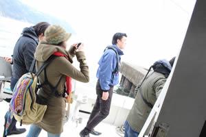 ファミリーホール湘南台の海洋散骨、乗船の様子