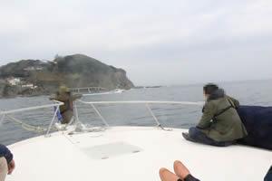 ファミリーホール湘南台の海洋散骨、帰港の風景